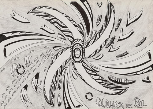 flor do mal_desenho / flower of evil_drawing