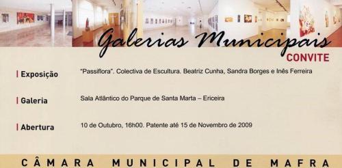 convite expo PASSIA FLORA na Ericeira 2009